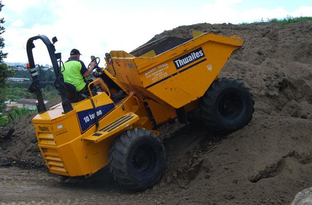 bobcat digger excavator dump truck barry heke tauranga